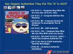 key organic authorities they put the a in accp