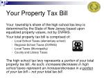 your property tax bill