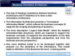 business information architecture