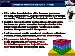 enterprise architecture ea as a concept