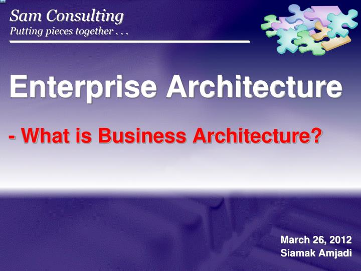 enterprise architecture what is business architecture n.