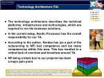 technology architecture ta