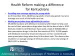 health reform making a difference for kentuckians