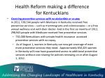health reform making a difference for kentuckians1