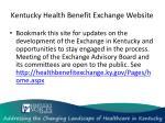 kentucky health benefit exchange website