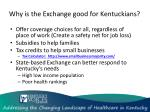 why is the exchange good for kentuckians1
