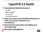 openrtb 2 2 dealid