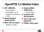 openrtb 2 2 mobile video