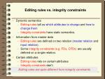 editing rules vs integrity constraints