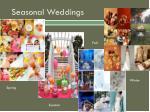 seasonal weddings