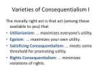 varieties of consequentialism i