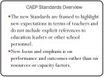 caep standards overview