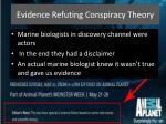 evidence refuting conspiracy theory