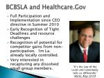 bcbsla and healthcare gov