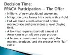decision time ppaca participation the offer