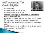 not advanced tax credit eligible