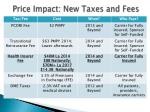 price impact new taxes and fees
