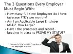 the 3 questions every employer must begin with