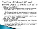 the price of failure 2015 and beyond ale s 50 99 99 start 2016