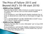 the price of failure 2015 and beyond ale s 50 99 start 2016