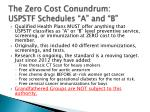 the zero cost conundrum uspstf schedules a and b
