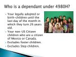 who is a dependant under 4980h