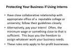 protecting your business if using interns