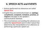 6 speech acts and events