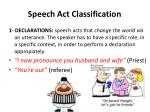 speech act classification