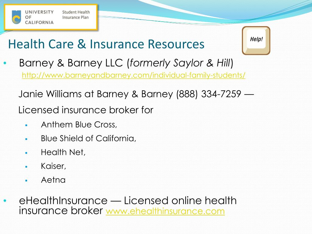 PPT - Health Insurance after UC SHIP Individual Health