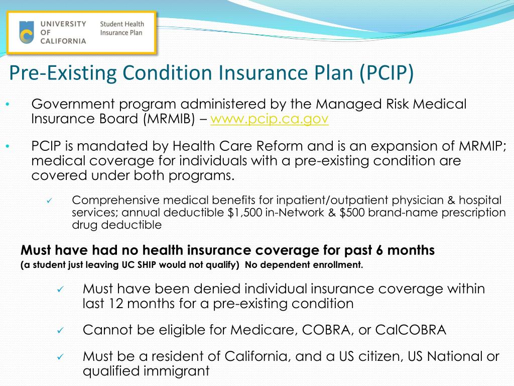 Health Insurance California >> Ppt Health Insurance After Uc Ship Individual Health