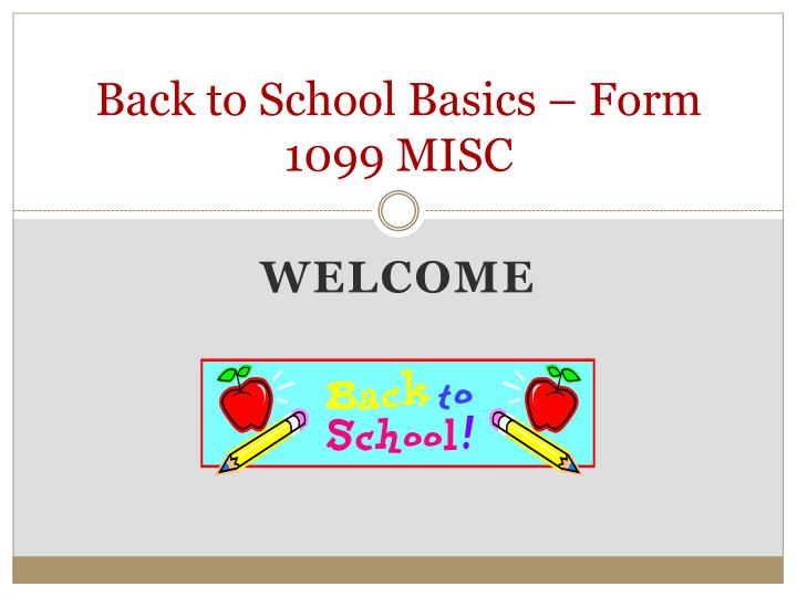 back to school basics form 1099 misc n.