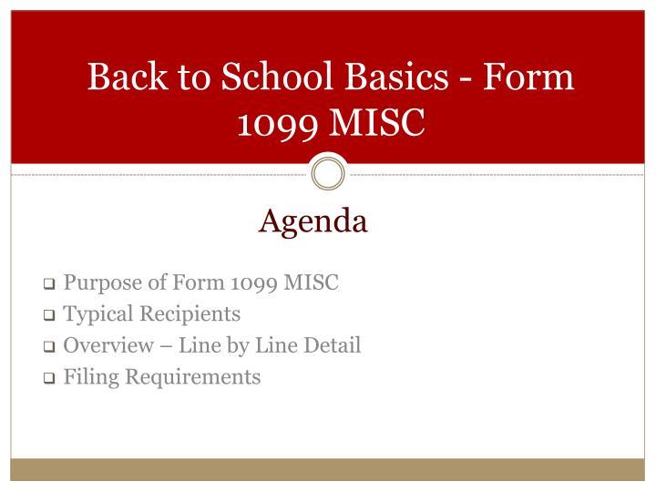 Ppt Back To School Basics Form 1099 Misc Powerpoint Presentation