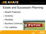 estate and succession planning