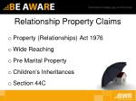 relationship property claims