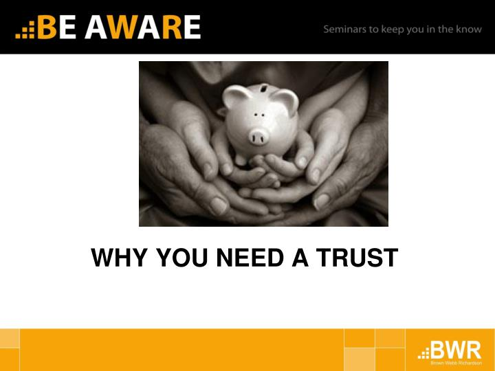 why you need a trust n.