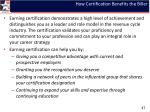 how certification benefits the biller