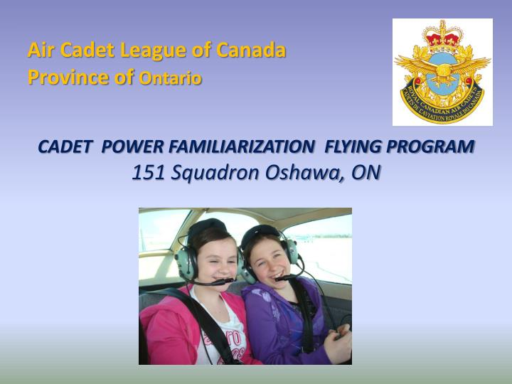 air cadet league of canada province of ontario n.