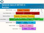 general view of setad in auction