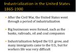 industrialization in the united states 1865 1900