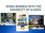 doing business with the university of illinois