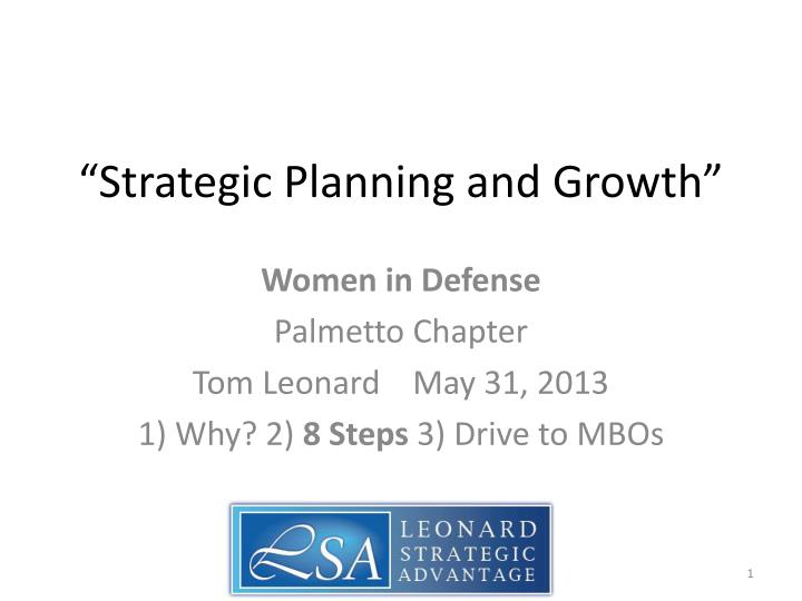 strategic planning and growth n.