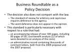business roundtable as a policy decision2