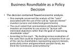 business roundtable as a policy decision3
