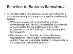 reaction to business roundtable