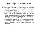 the longer term solution