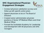 shc organizational physician engagement strategies