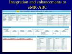 integration and enhancements to emr abc