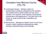 examples from monroe county ctc pa