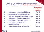 interview of students at columbia montour ct center in pennsylvania validates student survey